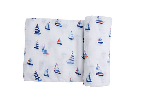Nautical Boats Swaddle Blanket