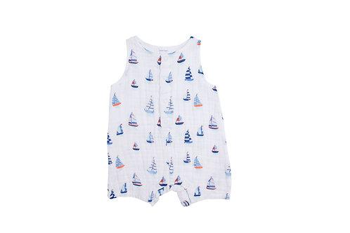 Nautical Boats Shortie Romper