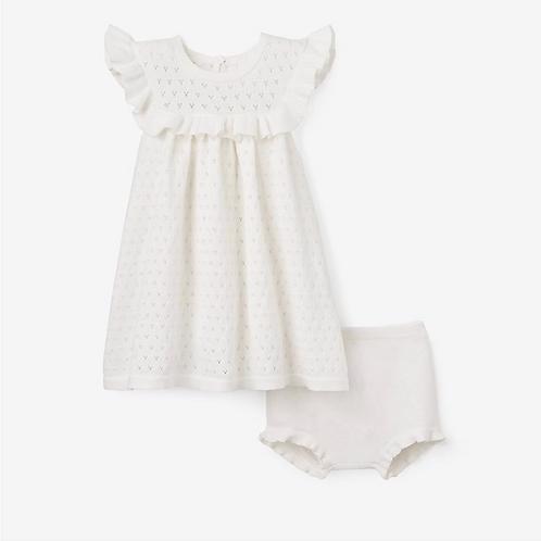 Dress Point Flutter Bloomer White