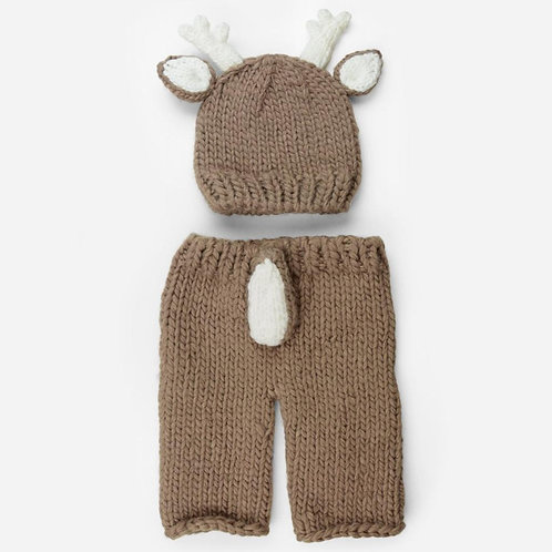 Hartley Deer Newborn Knit Set
