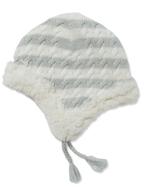 Grey Sherpa Pilot Hat