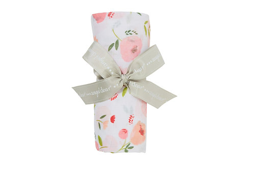Pretty in Pink Floral Swaddle