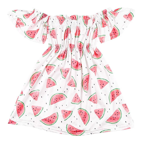 Watermelon Off the Shoulder Dress