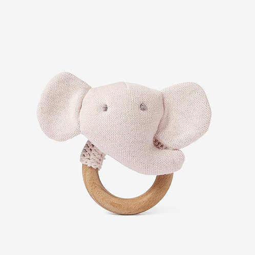 Ring Rattle Elephant Pink
