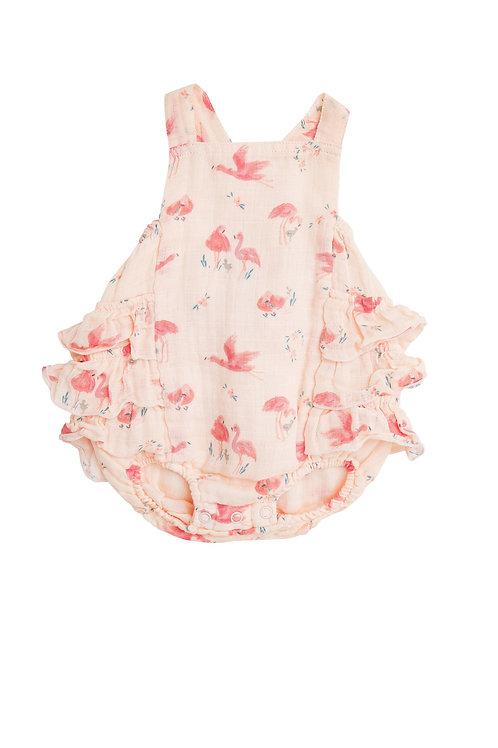 Flamingo Ruffle Sunsuit