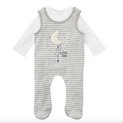 Hello Moon Footed Romper