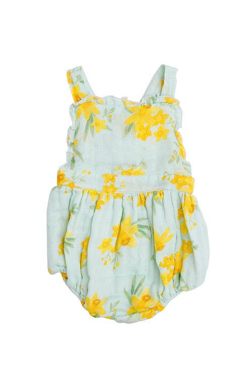 Daffodilds Ruffle Sunsuit Blue