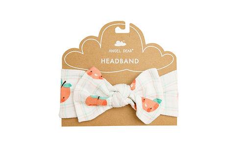 Plaid Peaches Headband Pink
