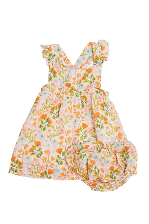 Honest Earth Floral Pinafore Top And Bloomer Multi