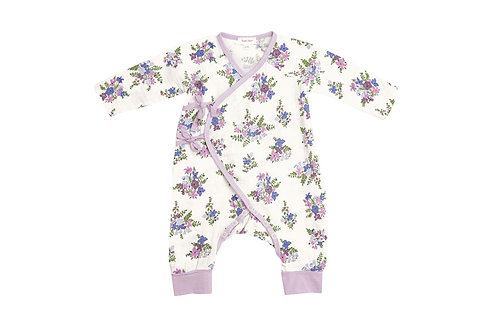 Lily Of the Valley Wrap Coverall Pink