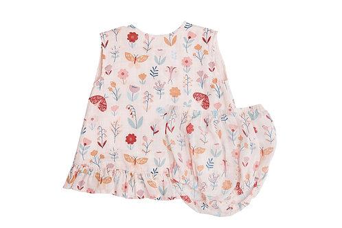 Butterfly Garden Ruffle Top and Bloomer Petal Kids