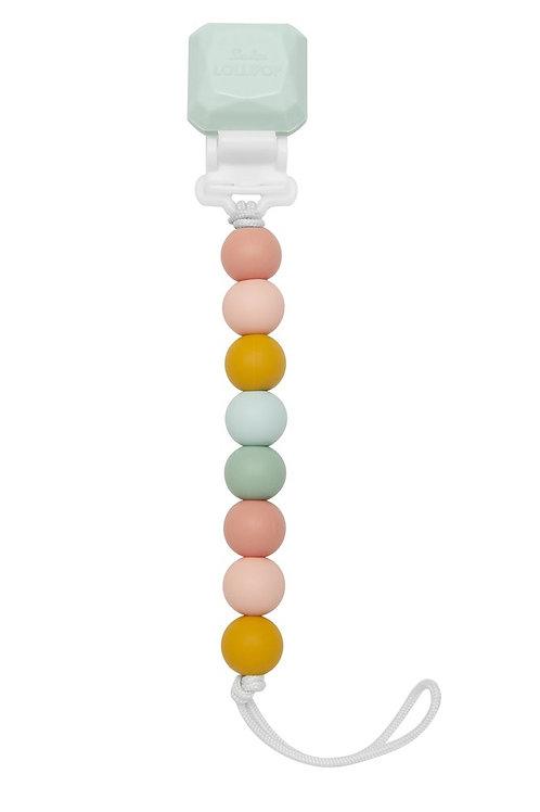 Lolli Holder Pastel Rainbow Pacifier Clip