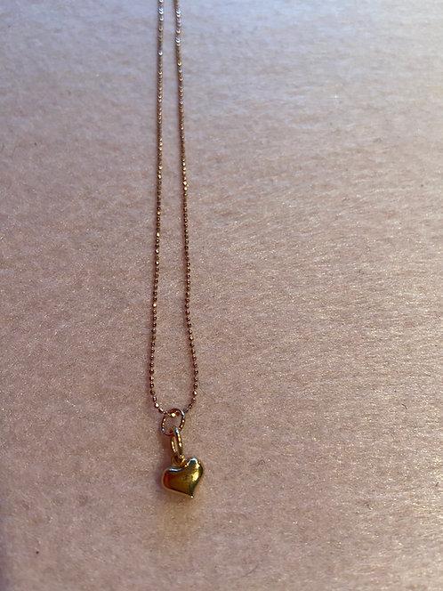 "Kette ""kleines Herz"" aus 925er Sterling-Silber rosévergoldet"