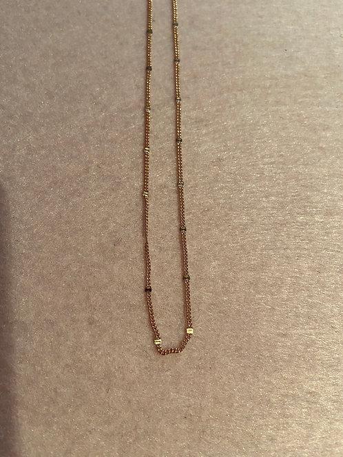 "Kette ""Plättchen"" aus 925er Sterling-Silber rosévergoldet"