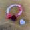 "Thumbnail: Armband ""rosa/weinrot"""