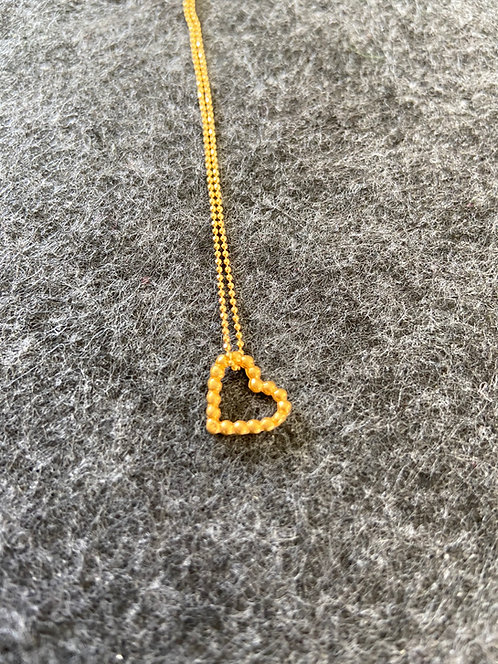 "Kette ""Modul Herz"" aus 925er Sterling-Silber vergoldet"