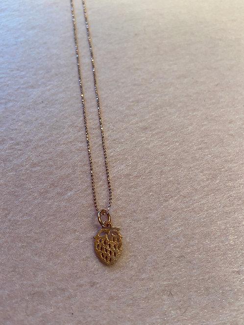 "Kette ""Erdbeere"" aus 925er Sterling-Silber rosévergoldet"