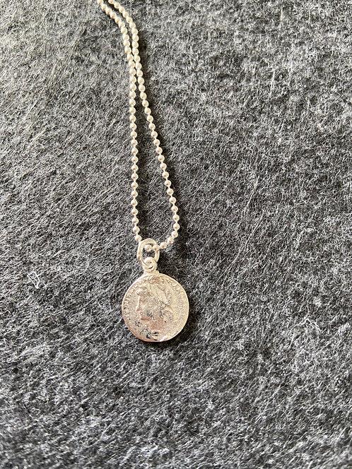 "Kette ""Münze"" aus 925er Sterling-Silber"