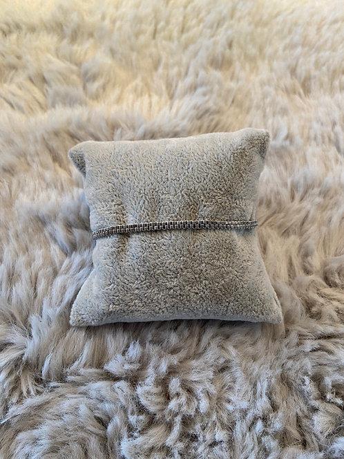 Armband aus Delica-Perlen - silbergrau -