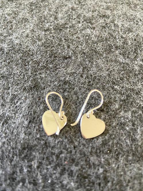 Herz-Ohrringe aus 925er Sterling-Silber