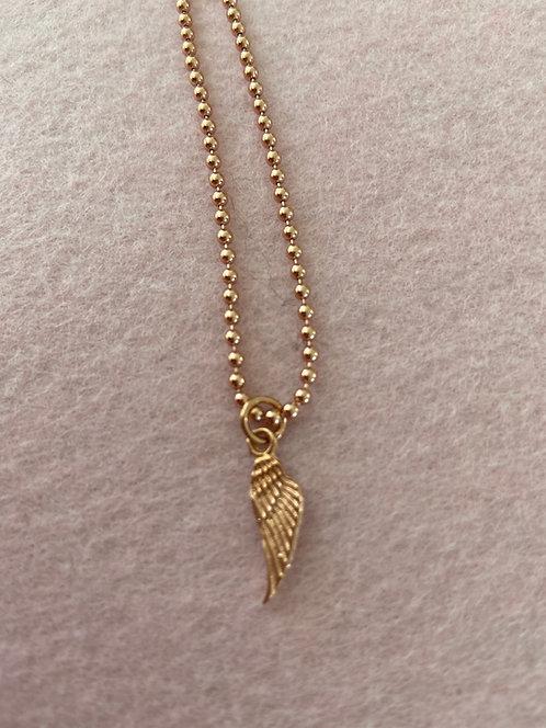 """Armband """"Engelsflügel groß"""" aus 925er Sterling-Silber rosévergoldet (Kugelkette)"""