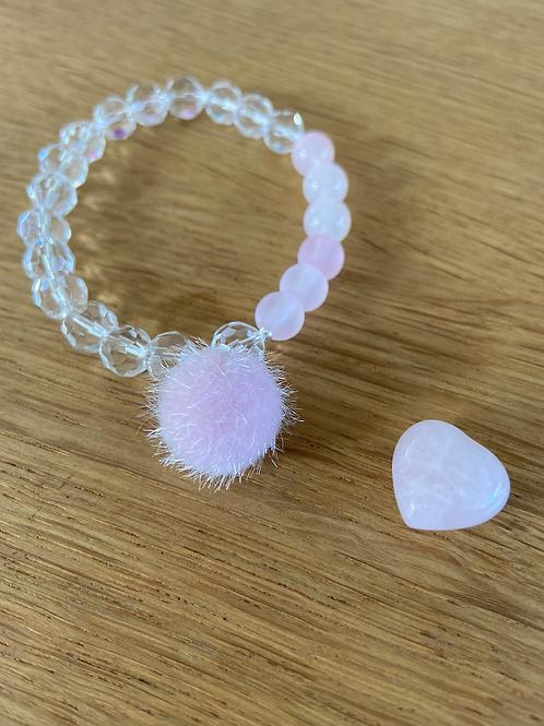 "Armband ""rosa/weiß"""
