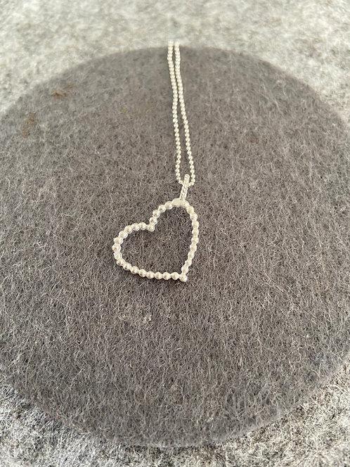 """Kette """"großes Herz"""" aus 925er Sterling-Silber"""