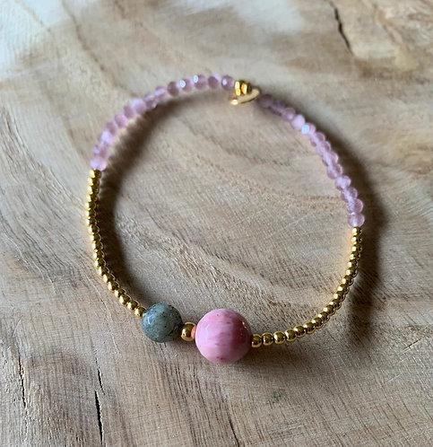 "Armband ""Fine Jewelry altrosa/gold"" von Schmückstück"