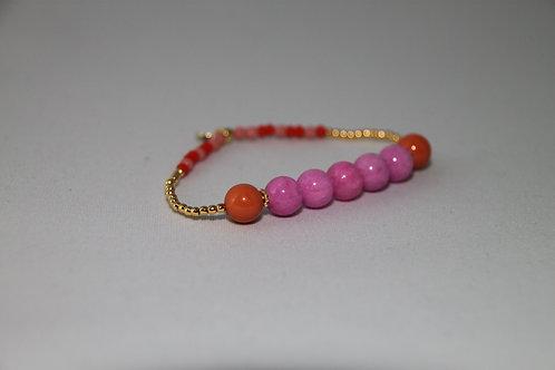 """Armband """"Elastik Pink Orange"""" von Schmückstück"""