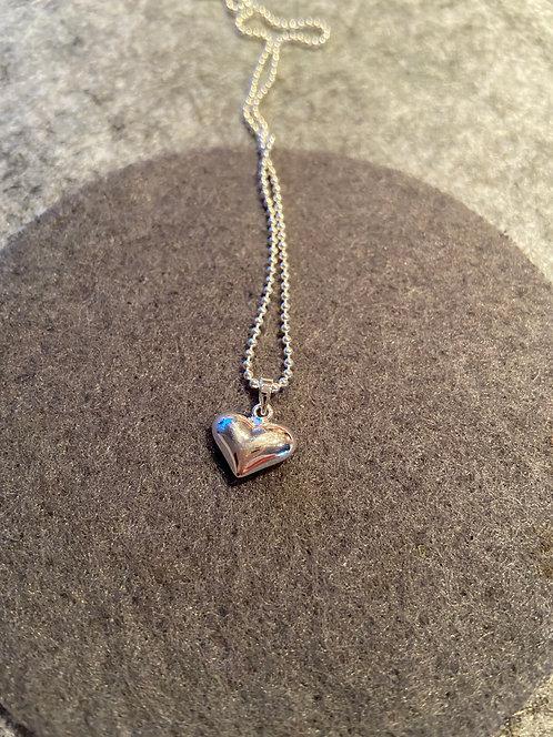 Herz-Kette aus 925er Sterling-Silber