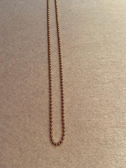 """Kette """"Kugelkette 2 mm"""" aus 925er Sterling-Silber rosévergoldet"""