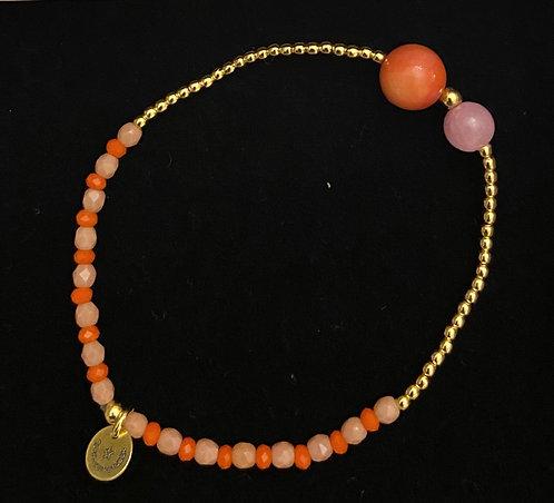 """Armband """"Fine Jewelry orange/pink"""" von Schmückstück"""