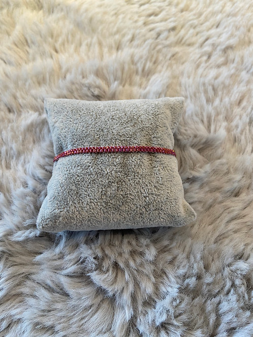 Armband aus Delica-Perlen - rot -
