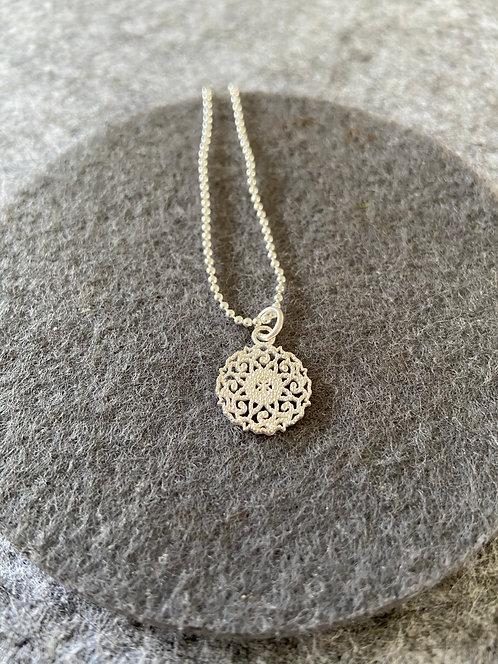 """Kopie von Kette """"Mandala"""" aus 925er Sterling-Silber"""