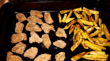 Chicken nuggets and Kumara chips