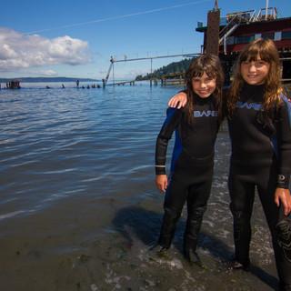 little girls friends infront of dock.jpg