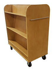 Book Cart in Natural Maple