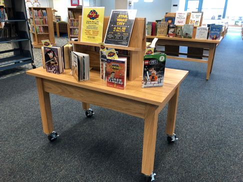 Mobile Book Display Table