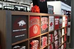 U of Arkansas - t-shirt cubbies w/ faceo