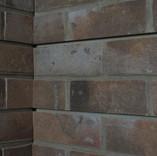 Brick slatwal inside corner w/o trim