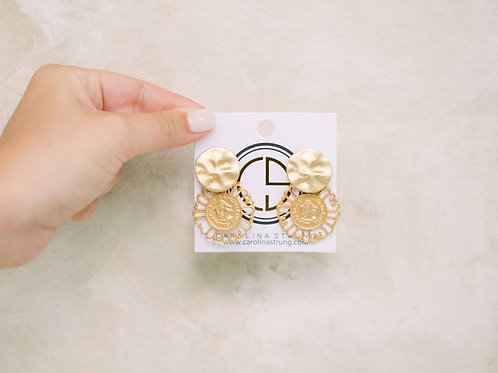 The Donna Coin Studs/Dangles