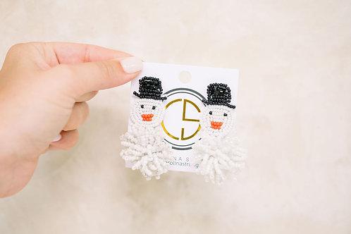 The Frosty Snowman Earrings