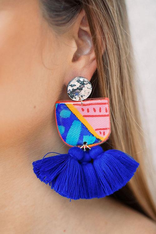 Hand Painted Earrings {6}