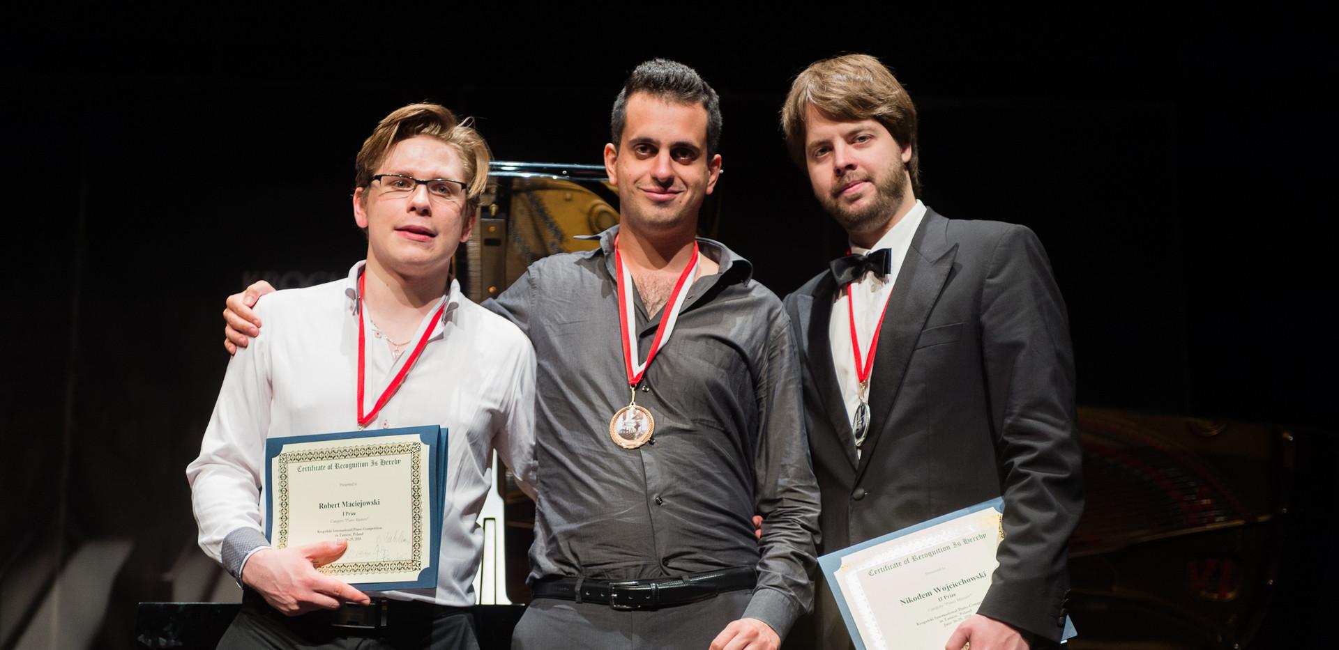Robert Maciejowski (Polska), Andrea Tamburelli (Włochy),  Nikodem Wojciechowski (Polska)