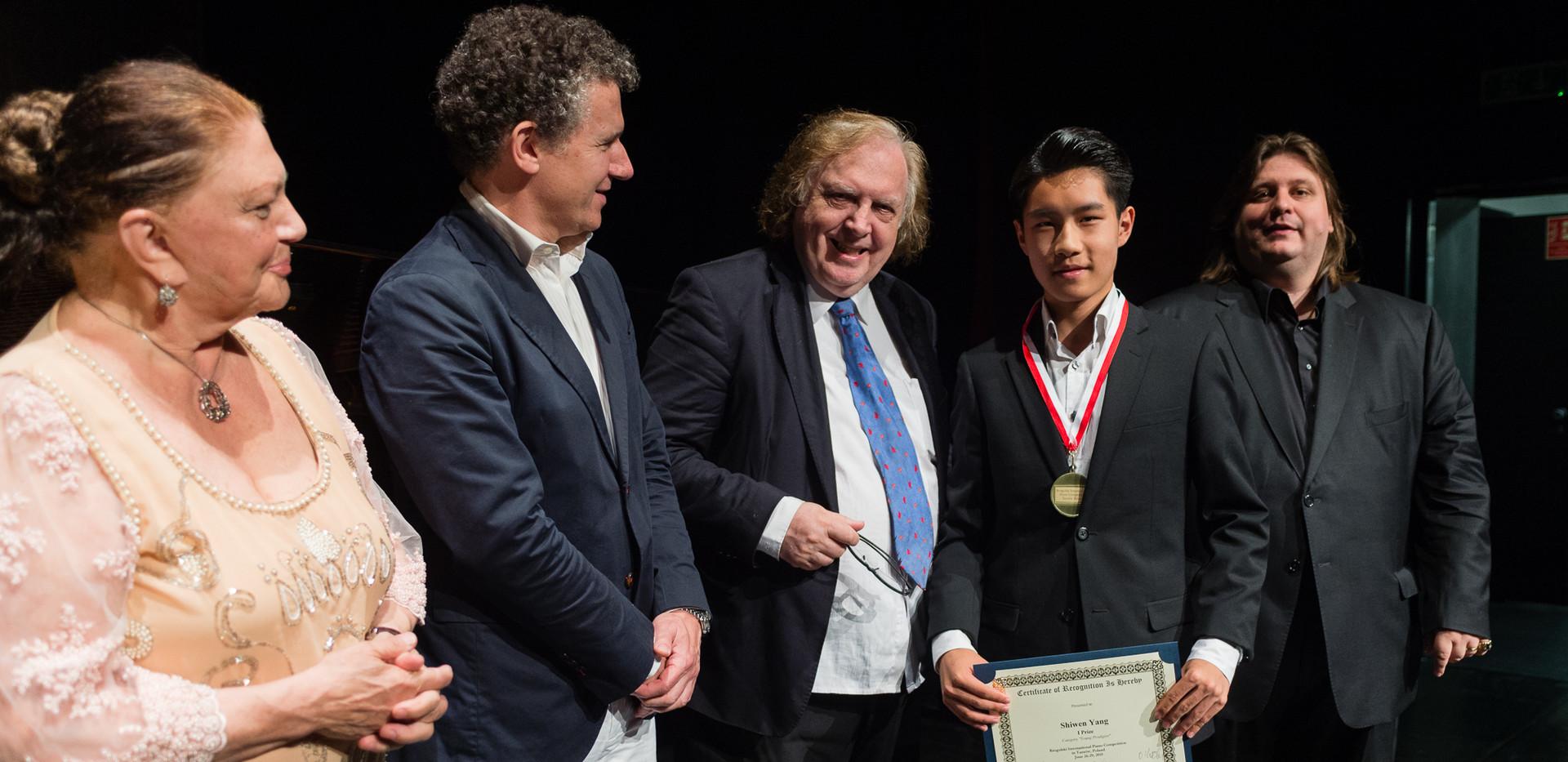 "Oxana Yablonskaya, Alexis Soriano, Einar Steen-Nøkleberg -  Shiwen Yang, Chiny - I Nagroda, Kategoria ""Młodzi Wirtuozi"""