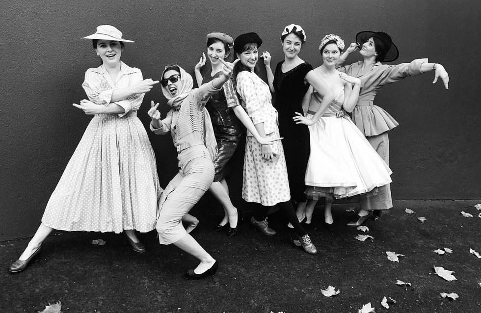 My NIDA class in 1950s costume