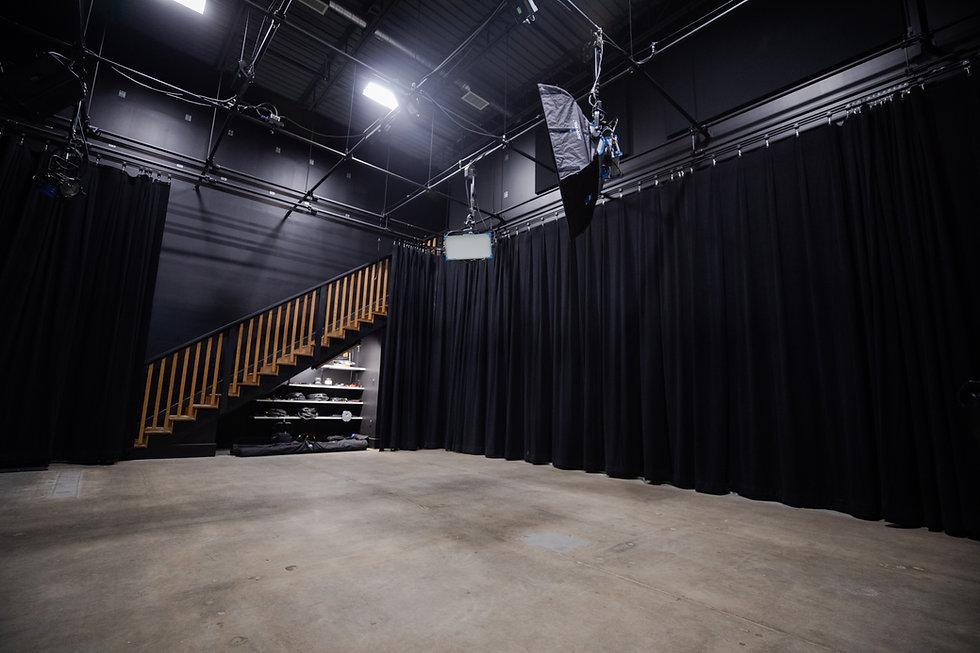 Empty film, video, photography, studio