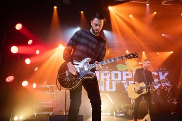 Dropkick Murphys guitarist performing during St. Patricks Day live stream concert in studio