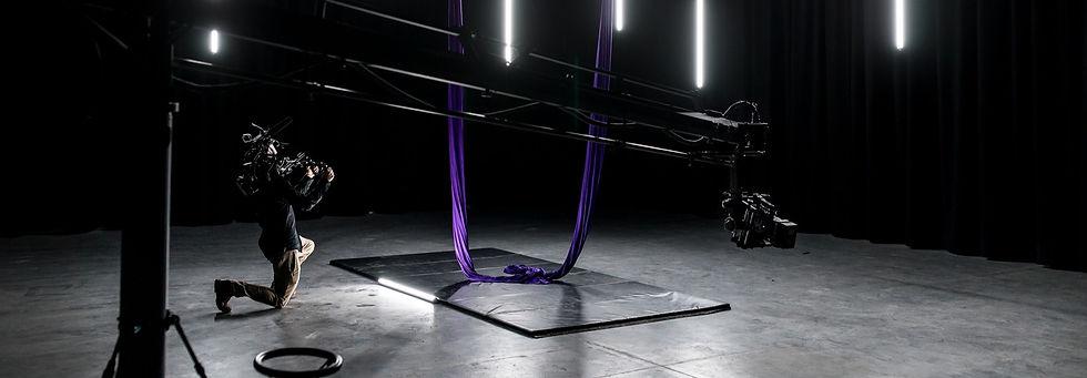 studio, acrobat, camera, filming, videographer, creative