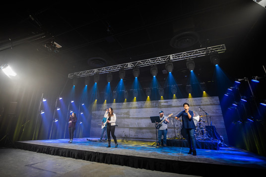 virtual production, stage, backline, rentals, camera, audio, lighting, studio, coworking, professional, church